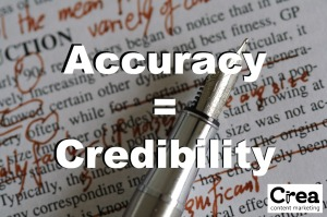 accuracy equals credibility