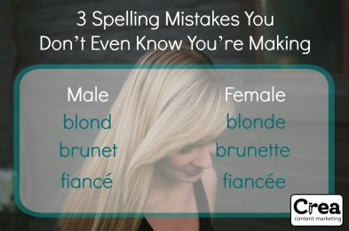 spelling mistakes you don't even know you're making
